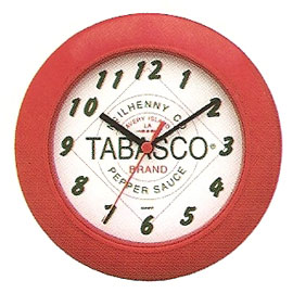 Tabasco® Red & White Clock