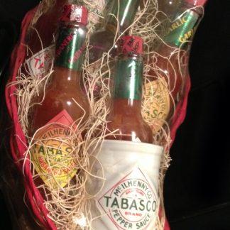 TABASCO® 8 Bottle Chili Pepper Basket