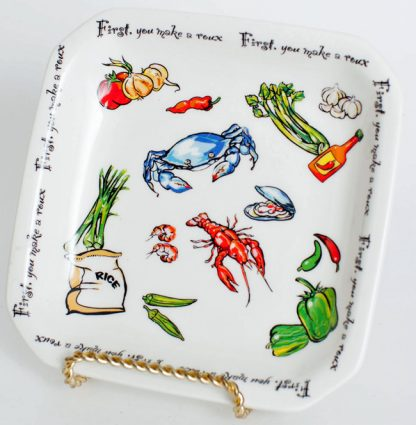 """Roux Collection"" 6.5 inch  Square Everything Plate"