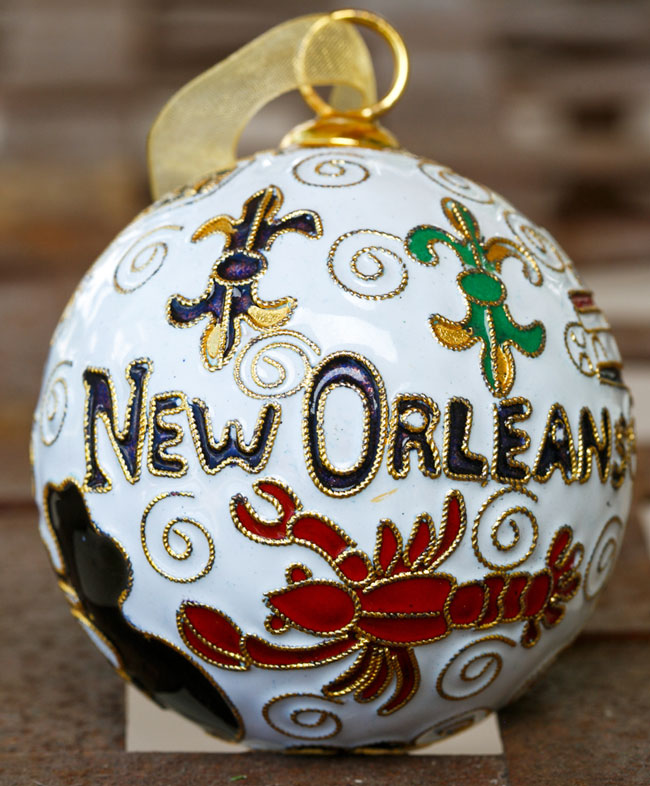 Kitty Keller Designs New Orleans Icons White Ornament - New Orleans ...