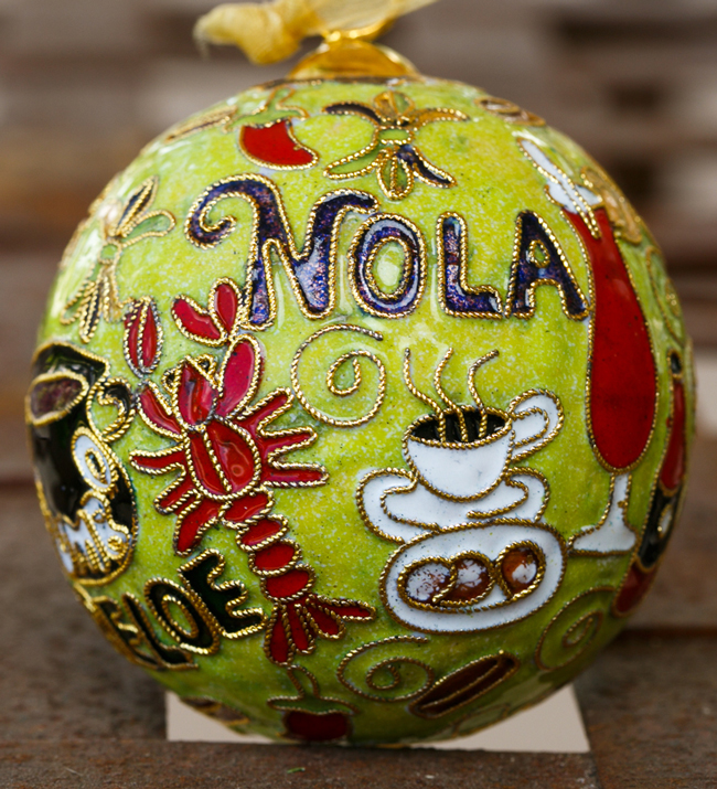 Kitty Keller Designs New Orleans Food Icons Green Ornament - New ...