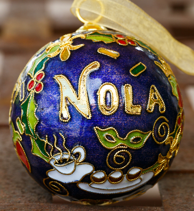 Kitty Keller Designs New Orleans Holly Wreath Ornament - New Orleans ...